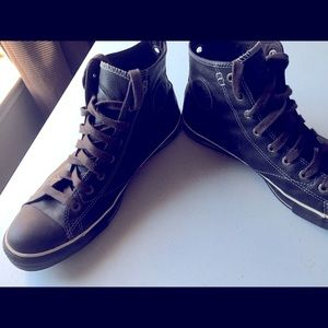 Brown Leather Men Converse